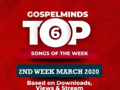 Top 6 Gospel Songs Of The Week - 2nd-Week March, 2020