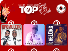 Monday 15th – Sunday, June 21st Top 6 Gospel Songs Of The Week
