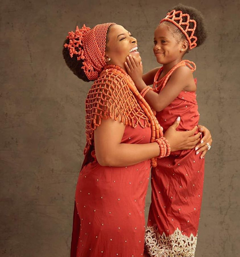 late Ibidunni Ituah-ighodalo and her Daughter