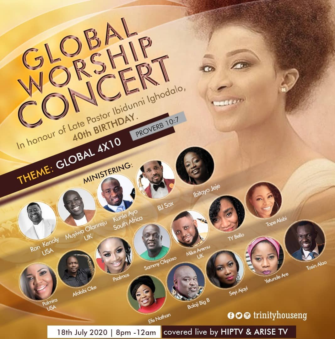 Global Worship Concert In Honour Of Late Ibidunni Ighodalo