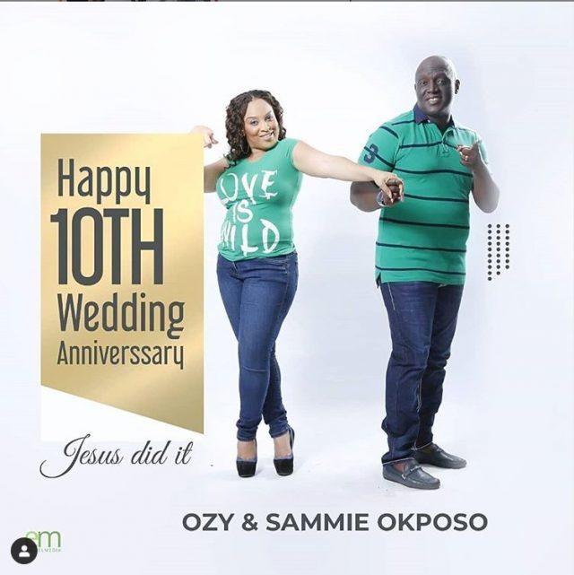 Sammie Okposo & his wife Ozioma