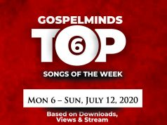 Top 6 Nigeria Gospel Songs Of The Week [July 6 - July 12, 2020]