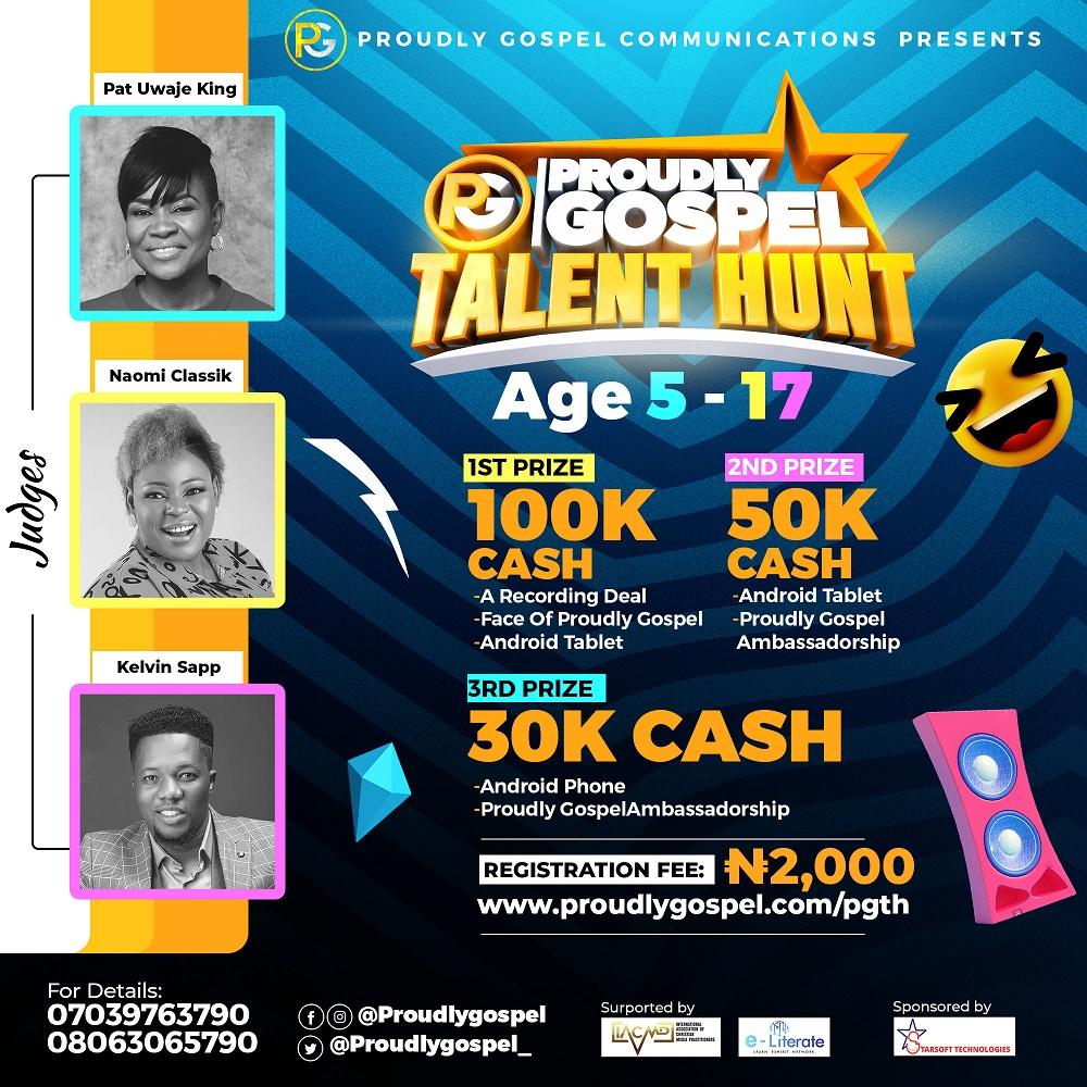 Proudly Gospel Talent Hunt Opens Registration