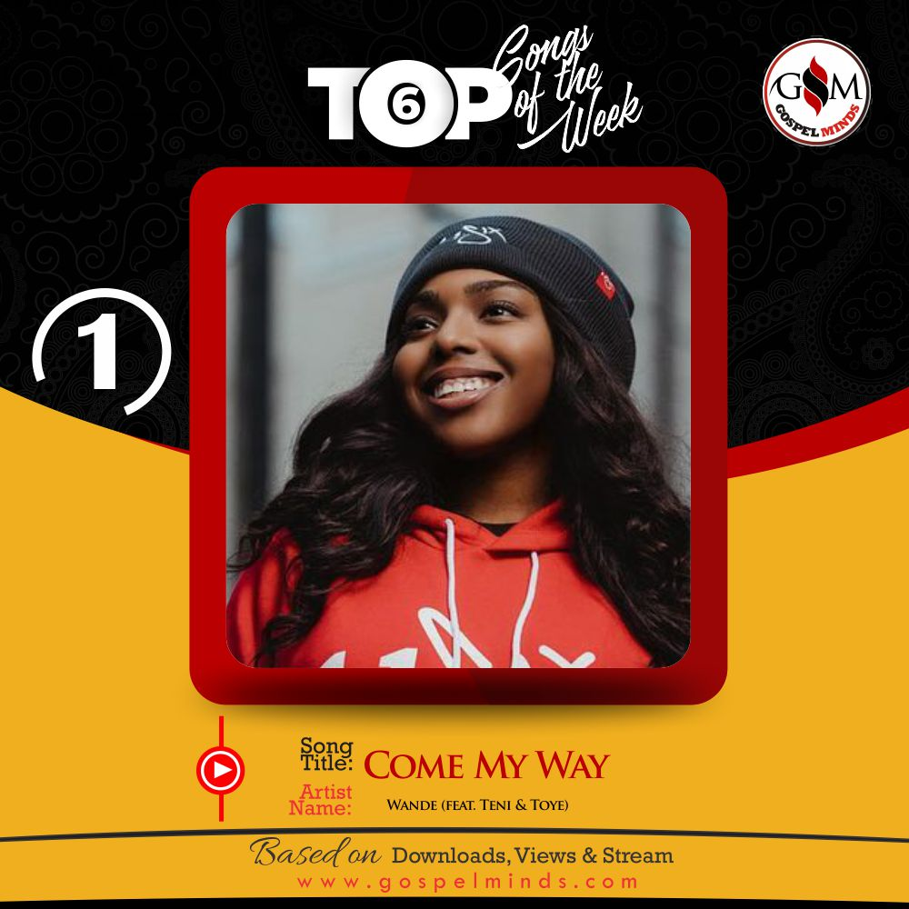 Top 6 Nigeria Gospel Song Of The Week - Wande - Come My Way ft. Teni & Toye