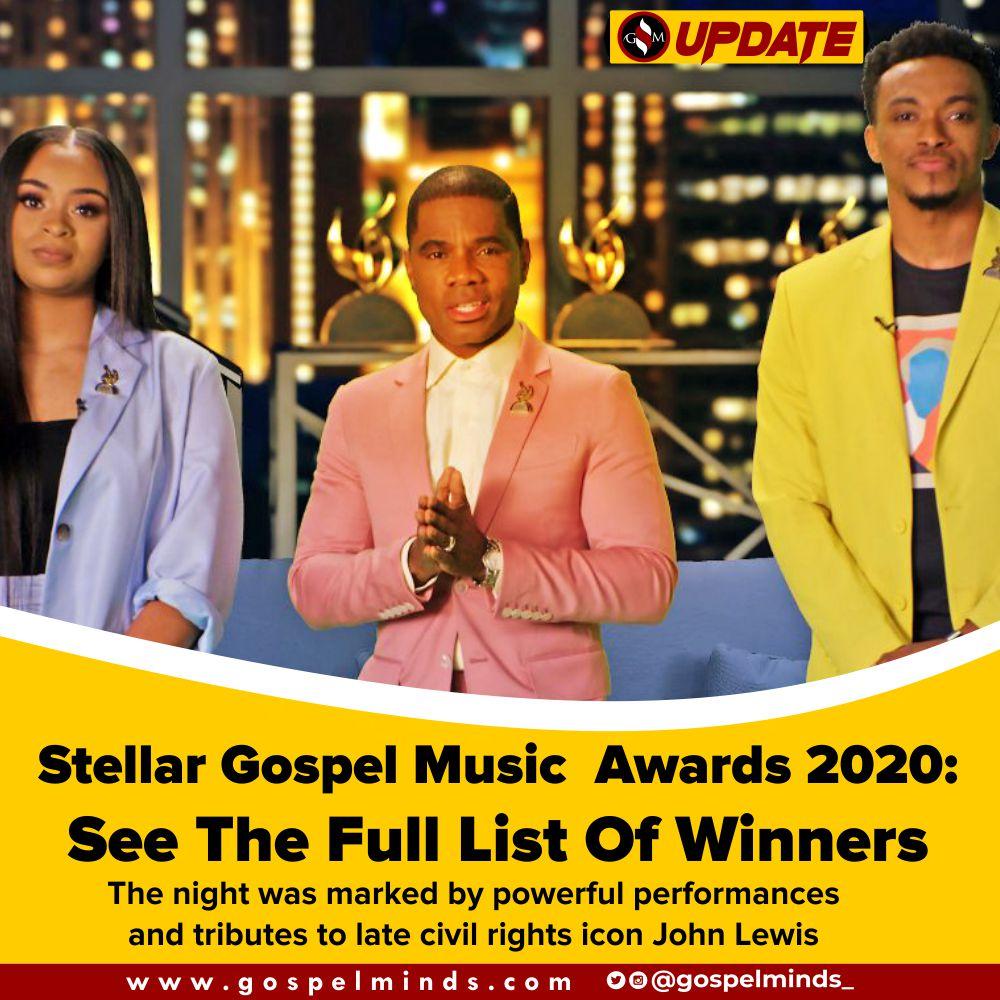 Winners Stellar Gospel Music Awards 2020