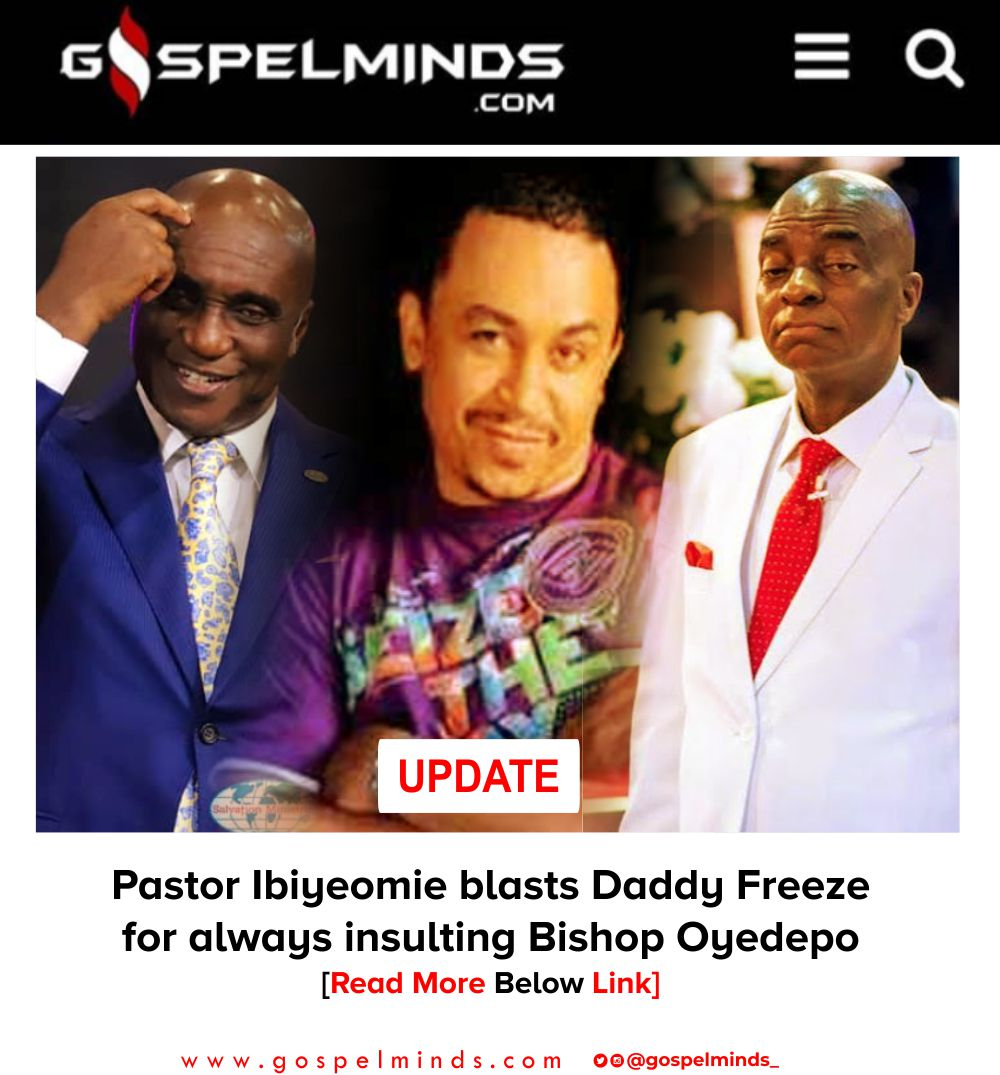Pastor Ibiyeomie blasts Daddy Freeze for always insulting Bishop Oyedepo