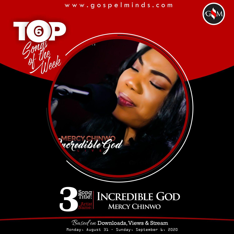 Top 6 Gospel Songs Of The Week - Incredible God By Mercy Chinwo