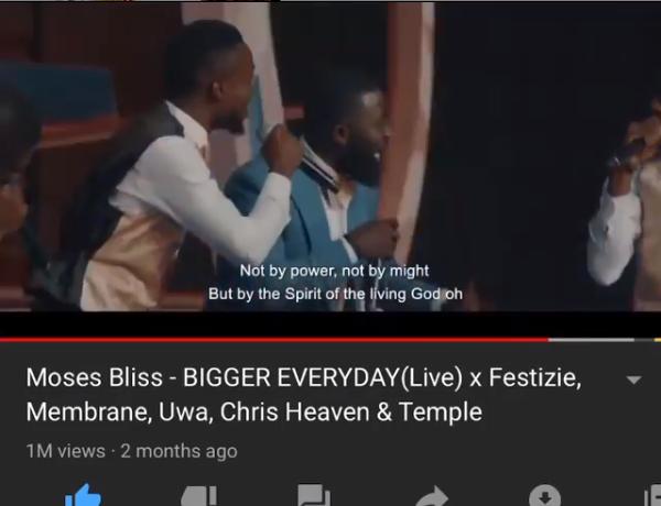 Bigger Everyday Song 1 Million Views - Moses Bliss