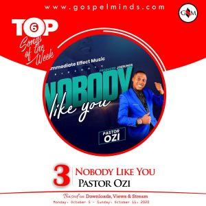 Top 6 Chart Nigerian Gospel Songs 2nd Week Of October 2020 - Nobody Like You by Pastor Ozi