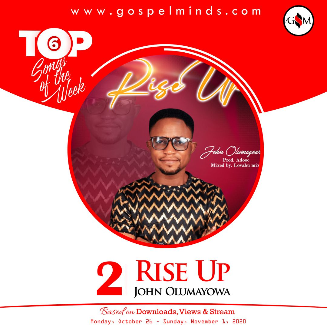 Top 6 Gospel Songs Of The Week 4th October 2020 - John Olumayowa Rise Up