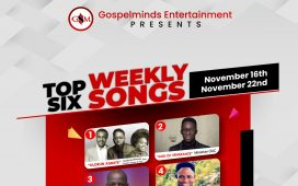 Top 6 Gospel Songs Week-48 November 2020