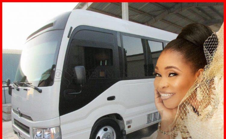 Tope Alabi acquires Toyota Coaster Bus