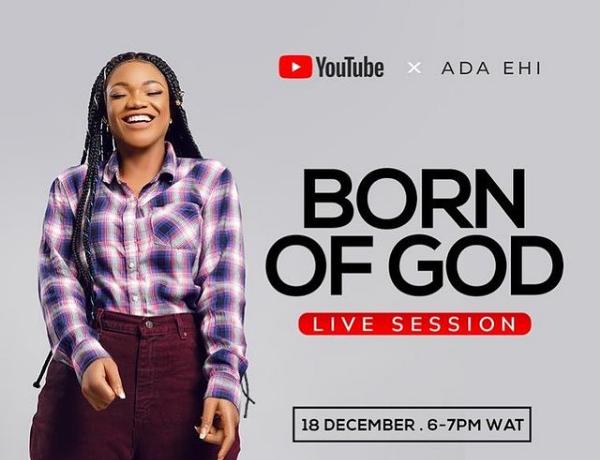 Ada Ehi Performing Tracks BORN OF GOD Album Live Session Video