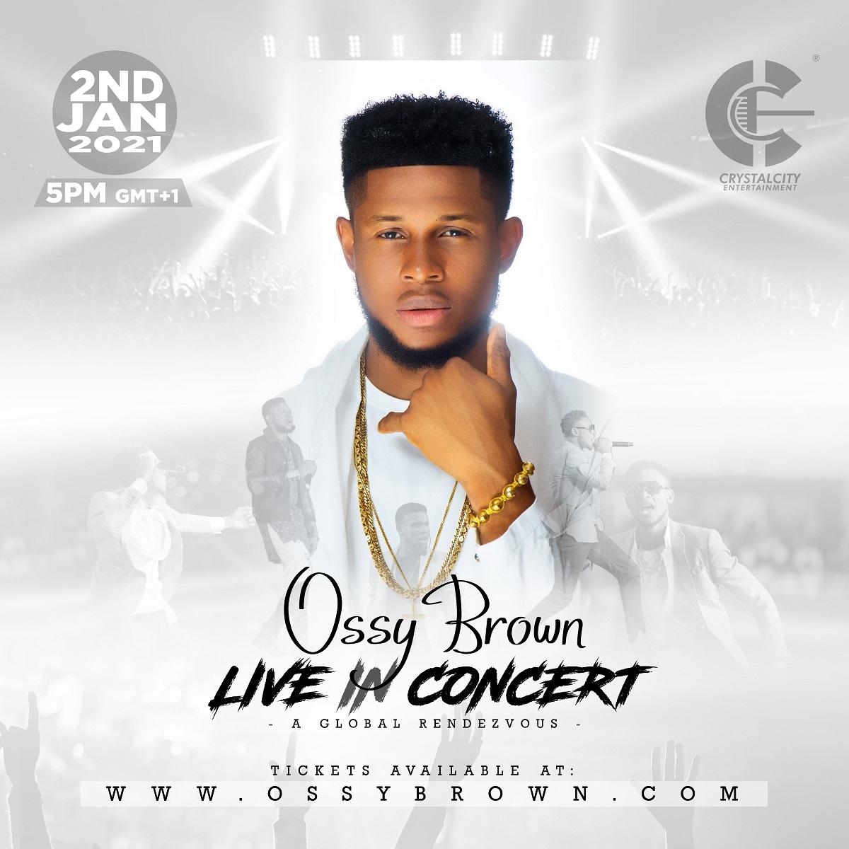 Ossy Brown Announce Live Gospel Concert