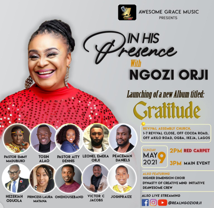Ngozi Orji In His Presence 2021 Album Launch