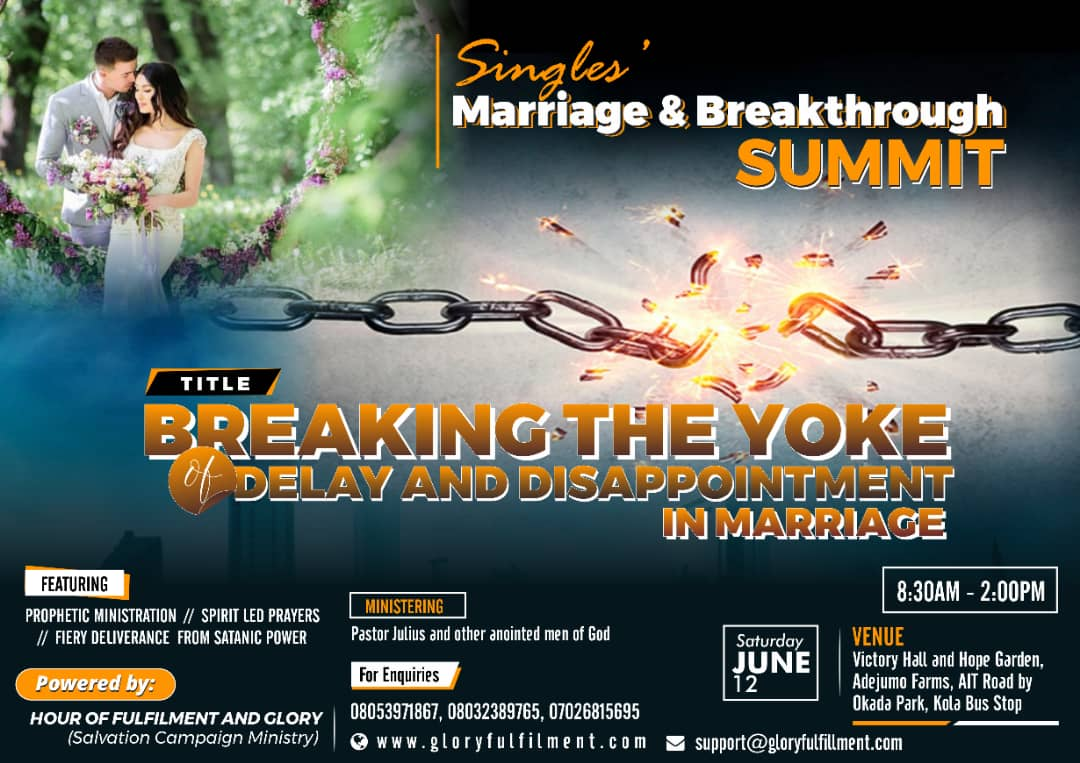 Single's Marriage And Breakthrough Summit 2021