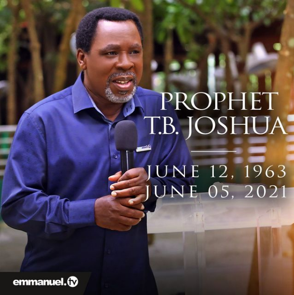 Prophet TB Joshua Last Message to the World Before His Death