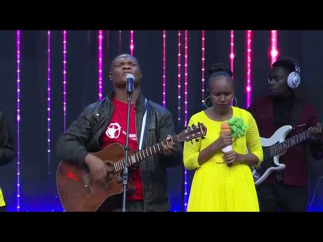Boaz Danken with Kingdom Seekers Worship team Haufananishwi