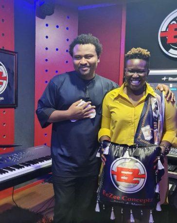 Comedian Real Warri Pikin visit EeZee Conceptz Global VILLA